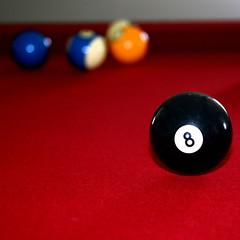Eight Ball Pool Table (Gravityx9) Tags: twenty20 pooltable red billiards billiardball eightball