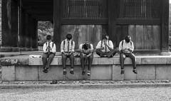 After Class (Jess Simen) Tags: colegiales nanzenji sanmon kyoto schoolboys after class blackandwhite blackwhite monochrome noire streetphotography urbanlife