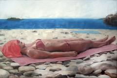 ignorance (Danimalkunst on facebook!!) Tags: beach girl young summer heat sky holiday sun towel stones