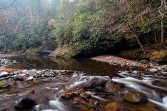 Autumn on the Little River (John Cothron) Tags: 35mmformat 5dmarkii 5d2 5dii 5dmkii americansouth blountcounty cpl canoneos5dmkii cothronphotography distagon2128ze distagont2821ze dixie eastsouthcentralstates greatsmokymountainnationalpark johncothron littleriver littleriverroad southernregion tennessee thesouth townsend us usa unitedstatesofamerica volunteerstate zeissdistagont21mm28ze autumn circularpolarizingfilter clearweather creek digital fall flowing freshwater landscape longexposure lowwaterlevel mist morninglight moss nature outdoor rapids river rock scenic stream water img13689161106 johncothron autumnonthelittleriver