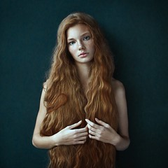 Dasha (Alexander Vinogradov) Tags: ginger redhair redhead young face freckled frecks hair sony 50mm