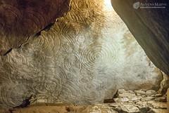 Newgrange eastern recess ceiling stone (mythicalireland) Tags: ceiling stone art decoration carvings megalithic neolithic stoneage passagetomb chamber meath ireland interior inside room vault capstone
