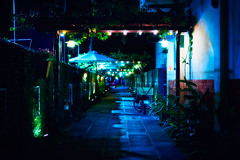 Night (Phn Chua) Tags: fuji fujifilm 35mm dof bokeh night light lights natural art cityscape low street city old frost blur cold linear shadow asia vietnam style wow picture image photo photography blue colour path walking december mist