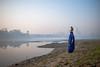 MYI_6386 (yaman ibrahim) Tags: india agra nikon d3 tajmahal yamuna morning water saree mis misty