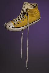 Yellow Chuck (boozleman) Tags: stilllife studiolighting flash object
