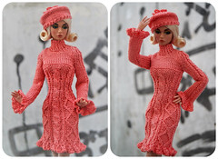Outfit dress beret for Fashion Royalty, Poppy Parker, Barbie, FR2, dolls 12 (electraere) Tags: outfit dress beret fashionroyalty poppyparker barbie fr2 dolls12