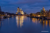 Amsterdam business center (George Pachantouris) Tags: amsterdam amstel financial center rembrandt tower reflection night light wate