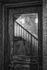 Ellis Island Contagious Disease Wards (johnredin) Tags: bw ellisisland newyork abandoned cities doorswindows reflections