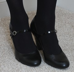 Mary Jane heels with Black Opaque Tights (naoph_9) Tags: maryjane black opaque tights