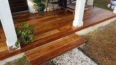 Concrete Wood Porch- D&A Services (Decorative Concrete Kingdom) Tags: concretestaining concretewood frontporch concreteoverlay raleigh north carolina