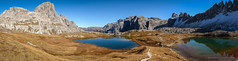 Dolomites - Laghi di Piani and Paternkofel (Nicholas Olesen Photography) Tags: italy europe dolomites horizontal landscape panorama nature mountains rocks lakes water blue sky hiking outdoors activity travel nikon d7100 reflection snow laghi di piani