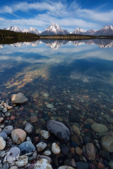 Morning at Jackson Lake (Ryan C Wright) Tags: morning red lake mountains reflection still wideangle calm tetons grandtetonnationalpark jacksonlake signalmountain mtmoran photosofgrandteton