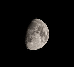 Waxing Gibbous - 75% Full (StephenGA) Tags: moon waxinggibbous 2013 em5