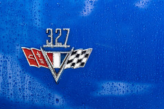 Three Twenty Seven (Jeremy Brooks) Tags: sanfrancisco california usa wet water car emblem droplets badge sanfranciscocounty