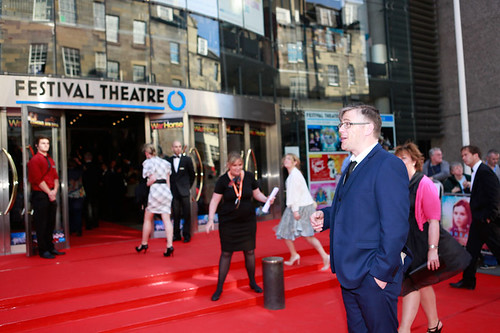 Stephen McCole arriving at the European premiere of Breathe In at Festival Theatre