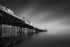 into the white (vulture labs) Tags: uk longexposure light sea england sky blackandwhite bw white seascape building art water monochrome architecture clouds photography mono pier photo nikon rocks brighton long exposure angle fineart fine wide monotone monochromatic palace structure photograph daytime pixies 30seconds ruleofthirds ndfilter daytimelongexposure neutraldensityfilter dodgeandburn intothewhite 10stop nd110 niksoftware d700 10stopfilter vulturelabs silvereffex2