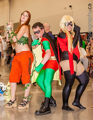 Poison Ivy, Robin, Ms. Marvel  captured at NFCC Niagara Falls Comic Con 2013 (andreas_schneider) Tags: ontario anime june niagarafalls costume cosplay center convention cosplayer comiccon scotiabank 2013 nfcc niagarafallscomiccon