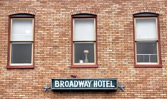 Broadway Hotel (podolux) Tags: windows signs window sign hotel md maryland baltimore neonsign 2009 fellspoint oldsign neonsigns d80 nikond80 june2009 dwwg vontagehotelsign