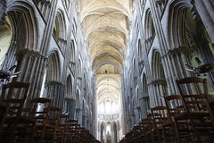 Rouen cathedral interior