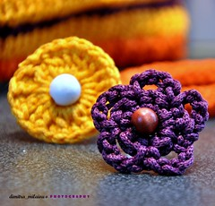 colours ... (dimitra_milaiou) Tags: light summer flower color macro art love yellow shopping bag fun greek design nikon knitting pattern colours purple bokeh handmade crochet knit athens hobby ring jewellery yarn greece purse knitted shape andros handknitting dimitra d90            milaiou