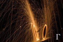 Circles () Tags: longexposure light lightpainting building night germany dark munich deutschland fire design dom lumiere dome munchen effect nuit allemagne nocturne feu effet steelwool tempsdeposelong longtempsdepose  moisanne