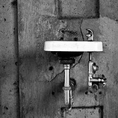 211/365 (local paparazzi (isthmusportrait.com)) Tags: park blackandwhite bw white black detail texture wet water fountain lines metal wall contrast turn prime iso100 pod shiny raw shadows flat tube pipe cement rusty clarity gritty h2o foundation plastic drip oxygen gross disgusting yuck droplet condensation manual madisonwi cracks grime minimalism streaks knob simple restrooms attached liquid porcelain drinkingfountain yucky cracked crackle moisture afs textured dispense hydrogen alloy bubbler autofocus simplistic isthmus 2013 365project nikond90 danecountywisconsin photoshopelements7 pse7 50mm14g localpaparazzi redskyrocketman lopaps olibrichpark