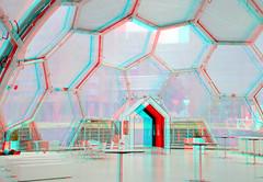 Rijnhaven Drijvend Paviljoen 3D (wim hoppenbrouwers) Tags: 3d rotterdam anaglyph stereo domes paviljoen redcyan rijnhaven koepels drijvendpaviljoen