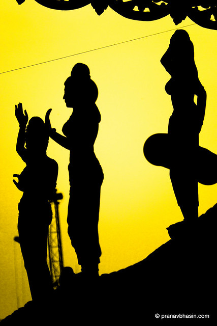 The Three Disciples Silhouette, At The Sanctuary Of Truth, Pattaya