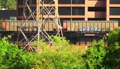 NEKST & HUNT (BLACK VOMIT) Tags: cars car train graffiti ol south el dirty mc dos tribute elk coal mayhem freight hunt ssp nekst coalies kamino elkamino coalie
