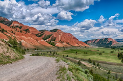 The Beautiful Red Hills at Kelly, Wyoming (Ronnie Wiggin) Tags: travel sky usa mountains nature field clouds landscape outdoors nikon day jackson kelly grandtetons tetons jacksonhole scenic