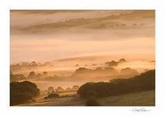 Morning Mists (George-Edwards) Tags: morning autumn light sun mist southwest misty fog rural sunrise landscape dawn golden countryside farmland hills isleofwight fields layers chale whitwell niton stcatherinesdown