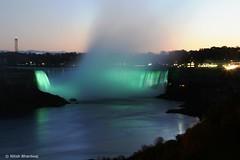 Niagara Falls (Nitish_Bhardwaj) Tags: longexposure light mist ontario canada water night niagarafalls waterfall exposure dusk falls horseshoefalls