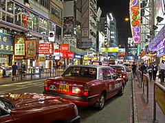 (LaCameraObscura) Tags: china night canon lens eos lights cab taxi hong kong 7d l 17 40 usm ef f4 hdr kok mong 2013