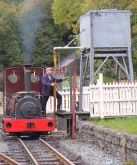 Una having a drink (ohefin) Tags: lake ex museum leeds railway loco steam national valley una owen slate llanberis now quarry 1905 trackbed nantlle hunslet hefin penyrorsedd