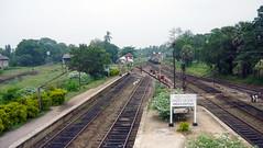 Anuradhapura Railway Station    (Malka001) Tags: trees sky tree station train railway trains railwaystation anuradhapura anuradapura flatfoam