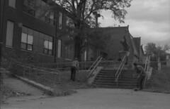 (ChazboTheThird) Tags: street new bw white 3 black max film st self 35mm canon t eos skateboarding tmax board side skating nj rail slide front developer skate rails jersey lip mm 35 developed perry premium boarding eos3 frontside fs trenton develop lipslide arista