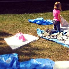 festival shards and happy kid (LauraSorrells) Tags: pink childhood festival jasper play marble shards marblefestival