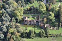 Playford Hall (John D F) Tags: aerial mansion aerialphotography eastanglia moated d7000 playfordhall