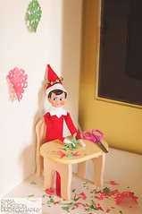 Jingle ~ Dec. 04 (emma klosson) Tags: christmas childhood festive fun snowflakes december crafts scissors cutting jingle holidaytradition 2013 elfontheshelf