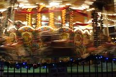 Carousel at the German market in Birmingham (Royd Tauro) Tags: street uk england motion blur night 35mm movement lowlight birmingham unitedkingdom carousel fujifilm xpro1