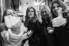 Strangers? (unoforever) Tags: street people test monochrome photography calle women fiesta gente streetphotography direction streetphoto mujeres reaction fotografa direccin spnc spmonochrome unoforever flickr12days