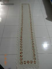 Tapete de croch com linha fial crua com barroco 2.65x56 com 74 flores no total (Cleme - Crochs & bordados) Tags: c artesanato tapete tr cro trabalhosmanuais croch croches tapetecroch