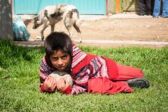 Slumdog (Jonas Schleske) Tags: street boy dog latinamerica children colombia child poor streetphotography journey slum entreaty slumdog