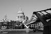 St Pauls (Dan Carter 1993) Tags: city bridge england white black deleteme deleteme3 london thames cathedral capital stpauls millennium