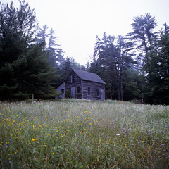 (patrickjoust) Tags: new england usa house color 120 6x6 tlr film me analog rural america square lens island us reflex cabin focus fuji desert mechanical united small release tripod north maine patrick twin slide cable mount chrome medium format states manual 55 expired joust e6 acadia mountdesertisland estados reversal unidos somesville fujichromeprovia100f mamiyac330s autaut sekor55mmf45 patrickjoust