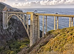 bixby bridge (Luc Mena Photography) Tags: bigsur bixbybridge bridge bus centralcalifornia coast landmark manmade ocean outdoor pacificocean road scenic sunrise vehicle