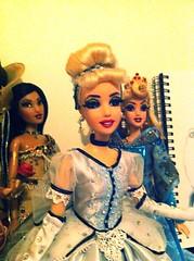 My dolls!:) (fallconary615) Tags: madame white snow beauty frozen doll dolls ooak disney aurora belle beast cinderella alexander elsa pocahontas 1937 tge uploaded:by=flickrmobile flickriosapp:filter=nofilter