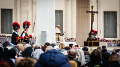 Papal Audience January 2014 (Capture the planet) Tags: pope rome flickr cross audience crucifix swissguard stpetersbasilica papalaudience popefrancis