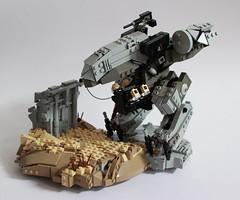Exodus (Andreas) Tags: lego mecha mech drone legomecha legomech legomilitary metalgearrex legodrone militarydrone desertapoc dronuary legoradar heavydrone