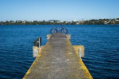 What Could Go Wrong (ibikenz) Tags: lake bike bicycle jetty wharf singlespeed pugsley surly takapuna rangitoto fatbike rx100 lakepupuke sonycybershotdscrx100